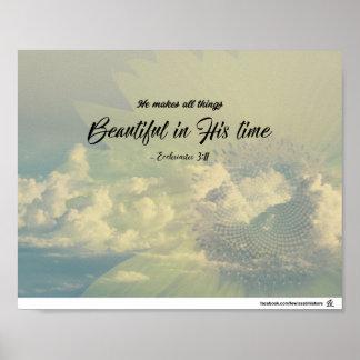 Poster 3h11 d'Ecclesiastes - beau dans son temps