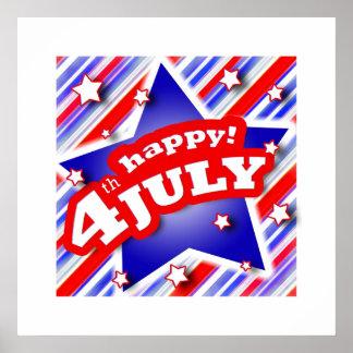 Poster 4 juillet affiche de célébration