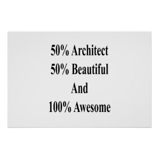 Poster 50 architecte 50 beau et 100 impressionnants