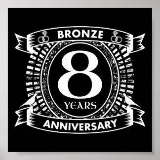 Poster 8ème bronze d'anniversaire de mariage