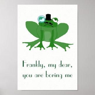 Poster A4 M. ennuyé par affiche Posh Frog