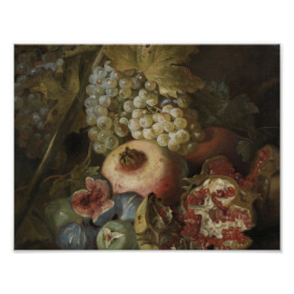 Poster Abraham Brueghel - la vie toujours avec le fruit