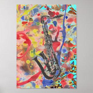 Poster Abrégé sur saxophone