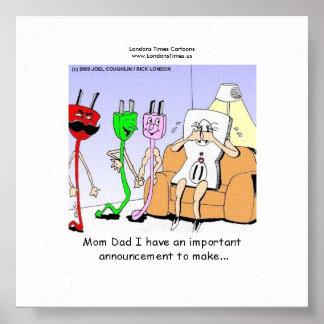 Poster AC/DC câblant l'homosexuel drôle de rapport/Les