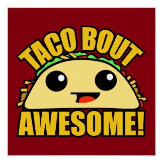 Poster Accès de taco impressionnant