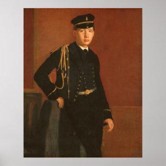 Poster Achille De Gas dans l'uniforme d'une peinture de