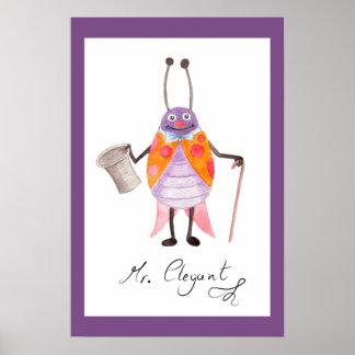 """Poster Affiche 16,60"""" d'art de crèche de """"M. Elegant"""" x"""