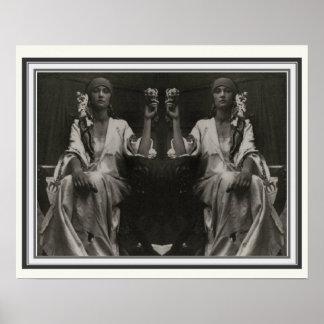 Poster Affiche 16 x 20 d'Alphonse Mucha de double image
