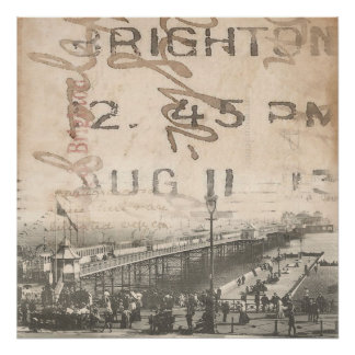 Poster Affiche 1913 de pilier de Brighton