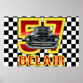 Poster Affiche 1957 de Bel Air de Chevy