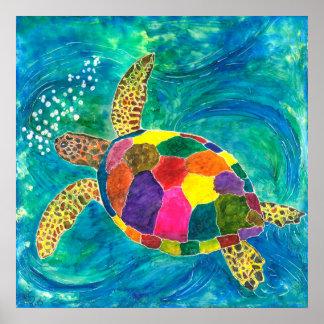 """Poster Affiche 24"""" de tortue de mer x 24"""" (vous"""