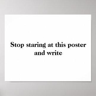 Poster Affiche #2 d'écriture