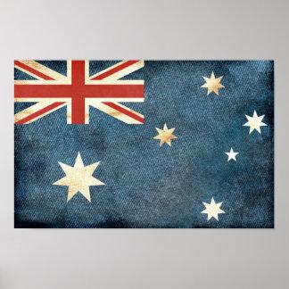 Poster Affiche australienne de drapeau