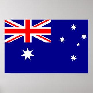 Poster Affiche avec le drapeau de l'Australie