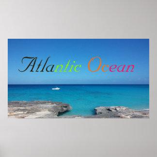Poster Affiche bleue dégradée d'océan