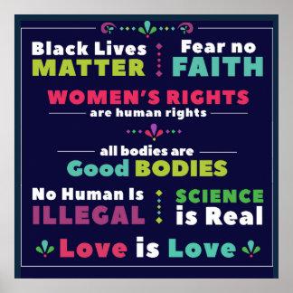Poster Affiche carrée de solidarité