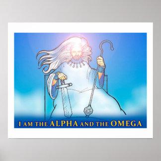 Poster Affiche chrétienne : Alpha et Omega
