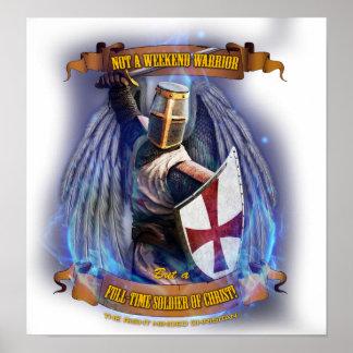 Poster Affiche chrétienne de soldat de chevalier