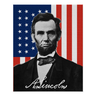 Poster Affiche d'Abraham Lincoln