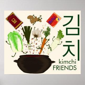 Poster Affiche d'amis de Kimchi