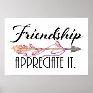 Poster Affiche d'amitié