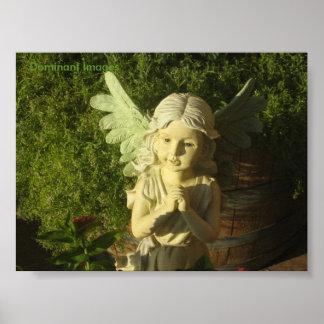 Poster Affiche d'ange de fille