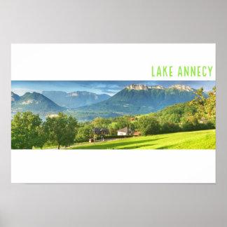Poster Affiche d'Annecy de lac