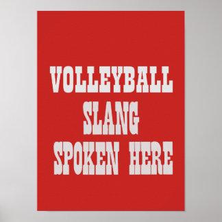 Poster Affiche d'argot de volleyball