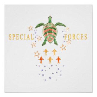 """Poster Affiche d'art de crèche """"de forces spéciales"""""""