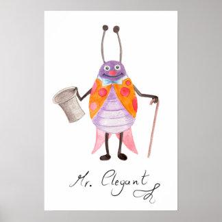 """Poster Affiche d'art de crèche de """"M. Elegant"""""""