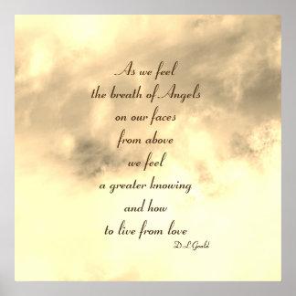 Poster Affiche d'art de poème de bénédiction d'ange
