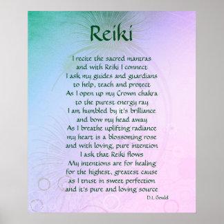 """Poster Affiche d'art de poème de """"Reiki"""""""
