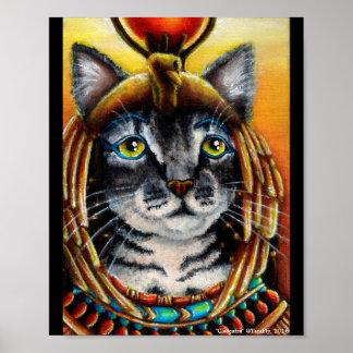 Poster Affiche d'art d'imaginaire de Pharoah d'Egyptien