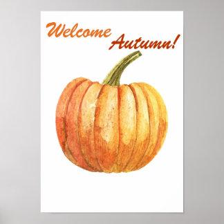 Poster Affiche d'automne de citation