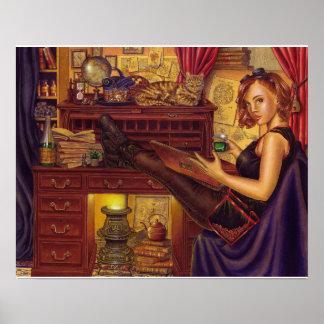 """Poster Affiche de """"absinthe et de souvenirs"""""""