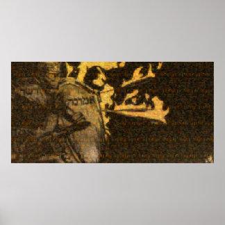 """Poster Affiche de """"armure"""" (mosaïque de tout le"""