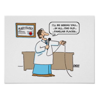 Poster Affiche de bande dessinée de radiologue
