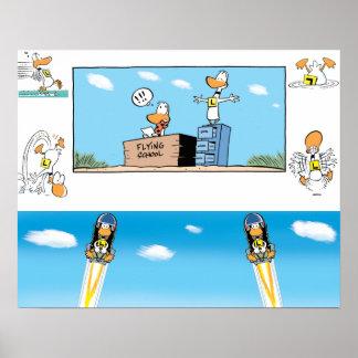 Poster Affiche de bandes dessinées de canard de tintement