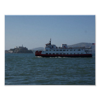 Poster Affiche de bateau de Zalophus de San Francisco