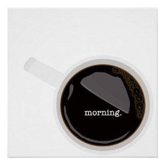 Poster Affiche de café de matin