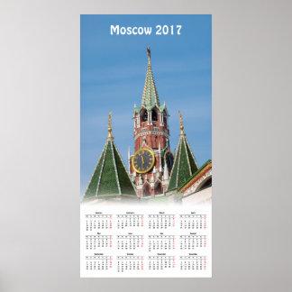 Poster Affiche de calendrier de Moscou Kremlin 2017