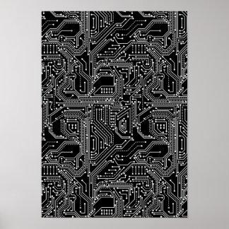 Poster Affiche de carte d'ordinateur