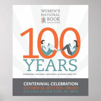 Poster affiche de célébration du centenaire de 20x24 WNBA