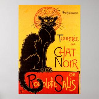 Poster Affiche de chat de Tournee du Chat Noir