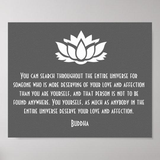 Poster Affiche De Citation D Amour De Lotus Bouddha