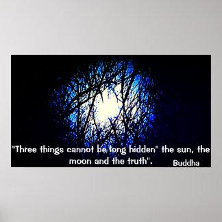 Poster Affiche de citation de Bouddha au sujet de la
