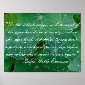 Poster Affiche de citation de nature d'Emerson