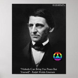 """Poster Affiche de citation de sagesse de la """"paix"""