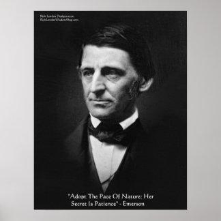 Poster Affiche de citation de sagesse de nature d'Emerson