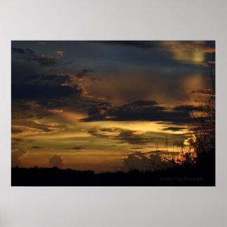 Poster Affiche de coucher du soleil de la Floride